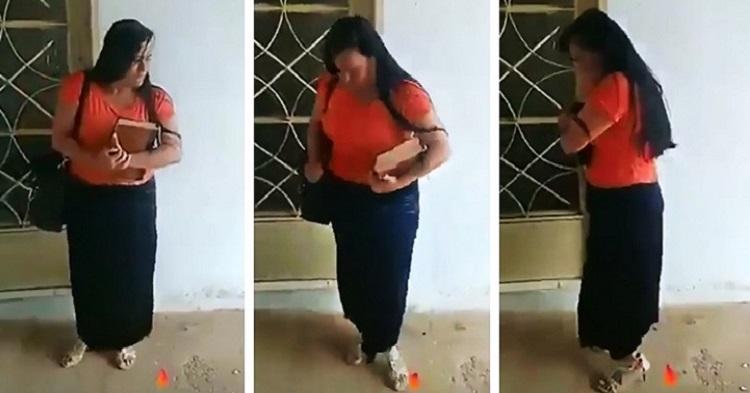 Testigo De Jehová Es Capturada Bailando Cumbia Mientras Le Abren La Puerta