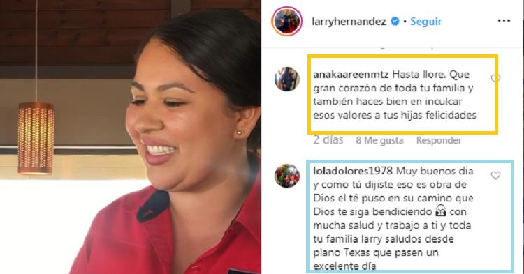 Comentarios positivos a Larry Hernández